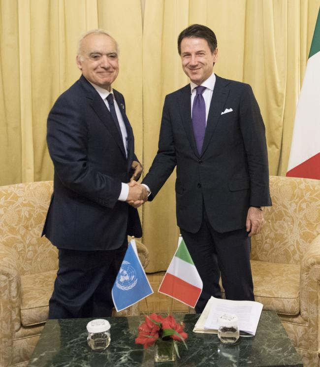 Incontro bilaterale Conte-Salamé - Bilateral meeting Conte-Salamé