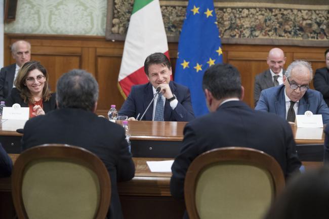 Conte incontra una delegazione dell'ANCI
