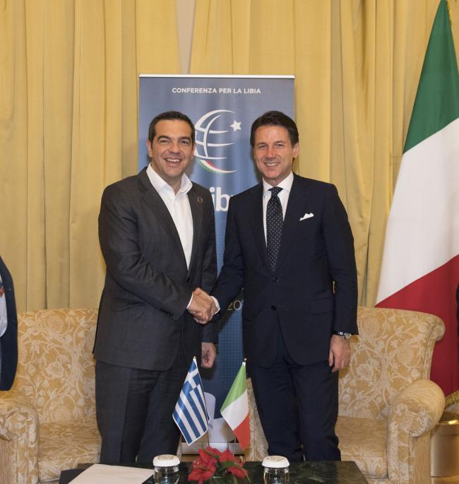 Incontro bilaterale Conte-Tsipras - Bilateral meeting Conte-Tsipras