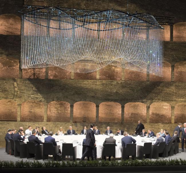 Salisburgo, cena di lavoro dei Capi di Stato e di Governo europei