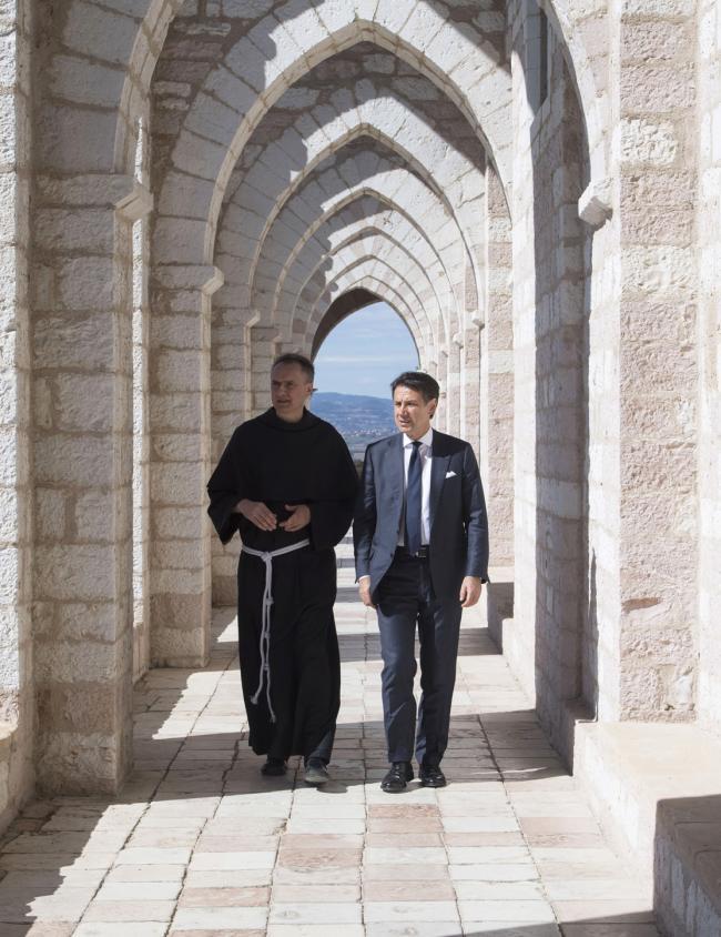 Il Presidente Conte ad Assisi