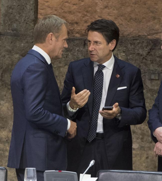 Salisburgo, il Presidente Conte alla cena di lavoro con gli altri leader europei