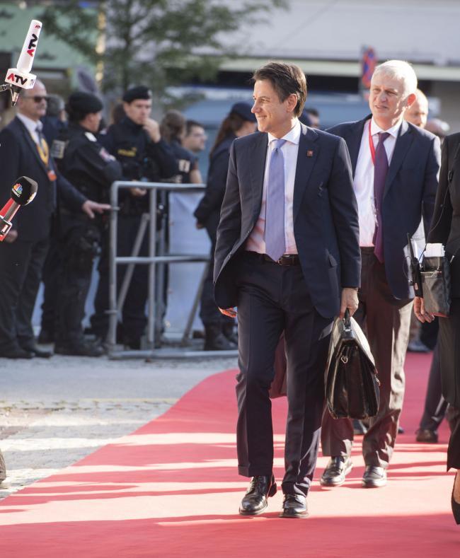Salisburgo, Il Presidente Conte al suo arrivo alla Mozarteum University