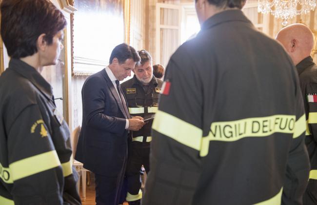 Il Presidente Conte in Prefettura a Genova