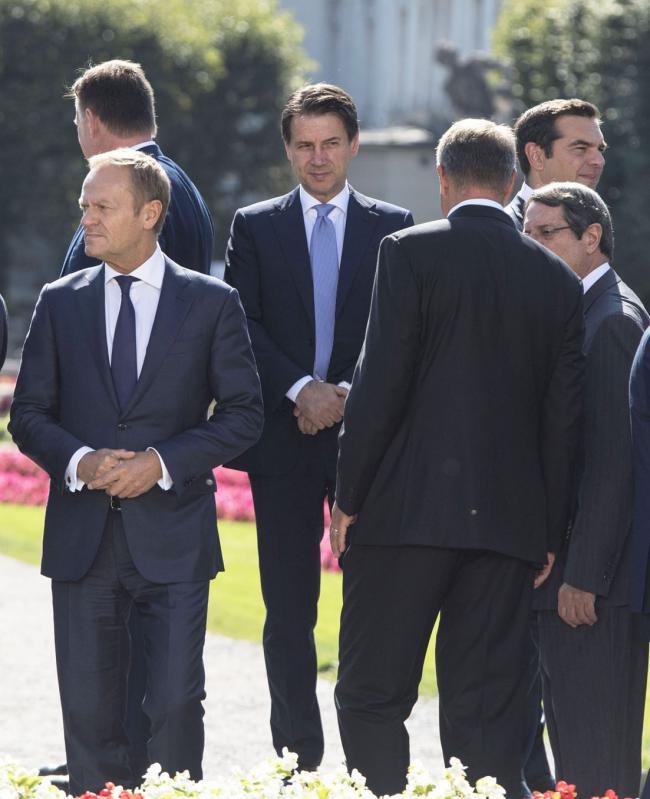 Salisburgo, Il Presidente Conte alla Riunione informale dei Capi di Stato e di Governo dell'Ue
