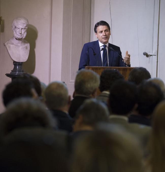 Il Presidente Conte all'Accademia della Crusca