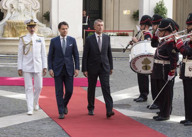 Il Presidente Conte riceve il Primo Ministro Babiš