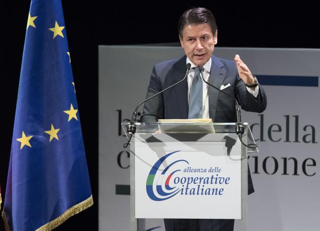 Conte alla Prima Biennale della Cooperazione dell'Alleanza delle Cooperative Italiane