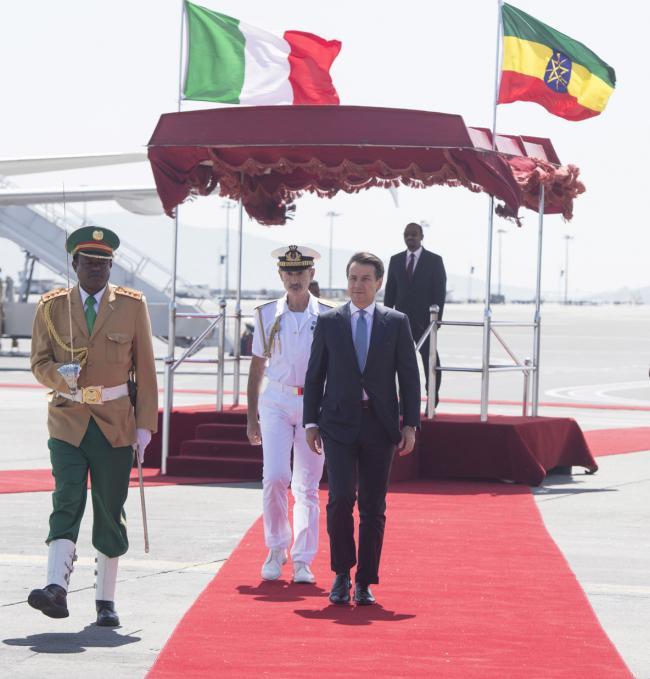 Il Presidente Conte con il Primo Ministro d'Etiopia