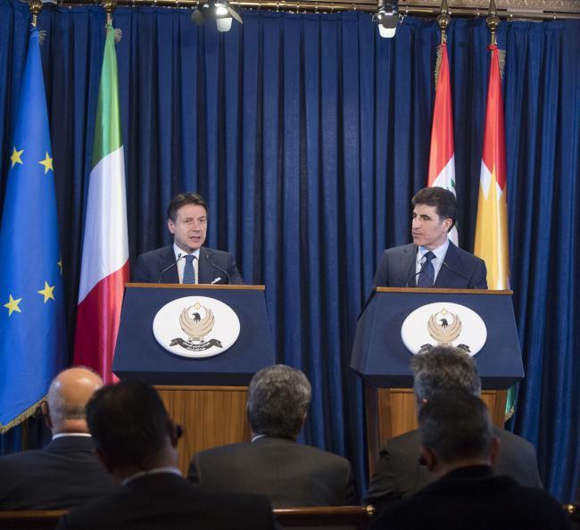Il Presidente Conte incontra il Primo Ministro del Governo regionale del Kurdistan