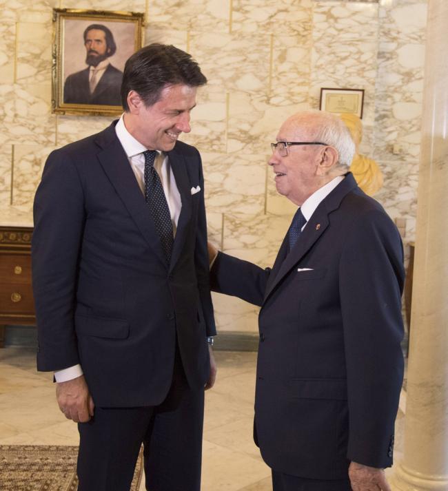Conte incontra il Presidente Beji Caid Essebsi