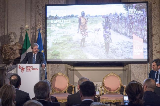 """Gentiloni all'incontro CUAMM """"Emergenza Sud Sudan"""""""