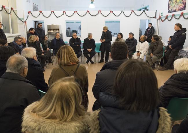 Gentiloni in visita alla Comunità di sant'Egidio