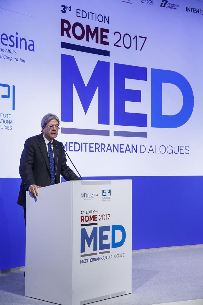 Gentiloni al Forum Rome Med 2017 - Mediterranean Dialogues