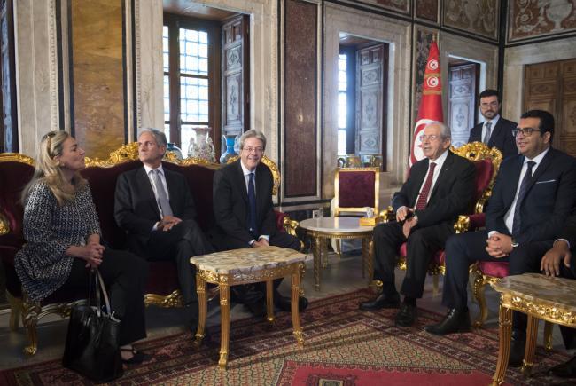 Gentiloni incontra il Presidente dei rappresentanti del popolo tunisino