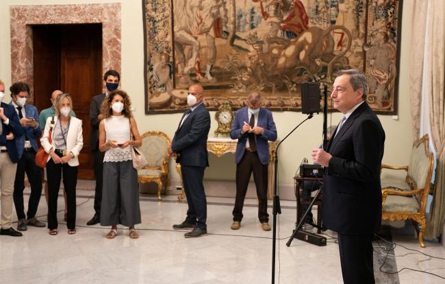 Saluto del Presidente Draghi prima della pausa estiva