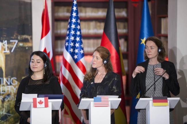 La conferenza stampa a conclusione dei lavori del G7 Pari Opportunità