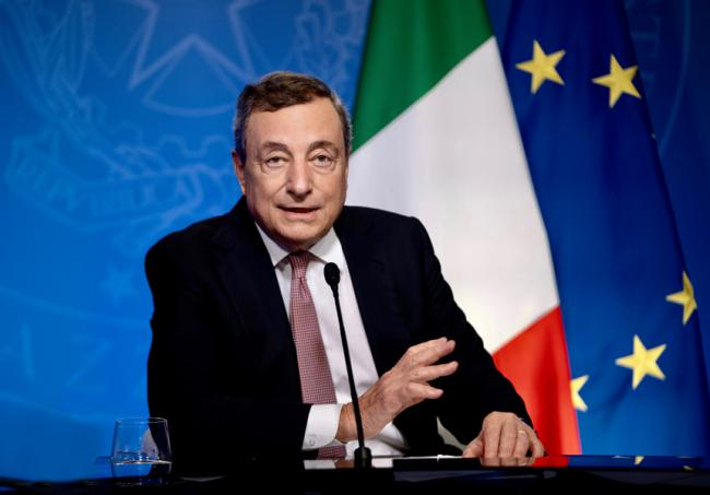 PM Draghi speaks at UN climate roundtable