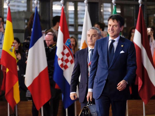 Il Presidente Conte al suo arrivo all'Europa Building