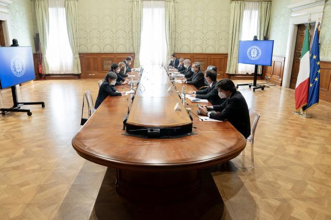 Il Presidente Draghi incontra la delegazione di Leu sul PNRR