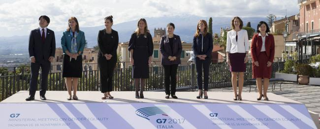 Riunione ministeriale G7 sulle Pari Opportunità, la foto di Famiglia