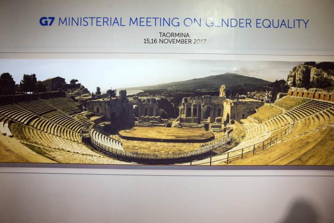 Il logo della riunione ministeriale