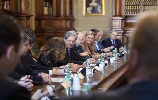 Incontro del Presidente Gentiloni con le Associazioni imprenditoriali europee