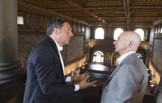 Incontro Renzi con Jeff Bezos