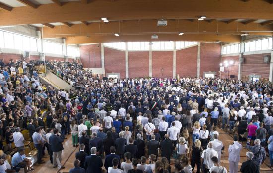 Funerali per le vittime del sisma di Arquata del Tronto