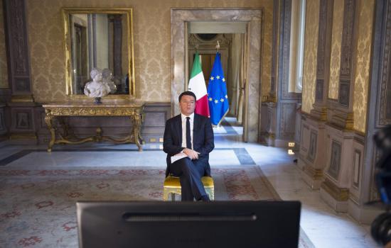 Renzi in videoconferenza