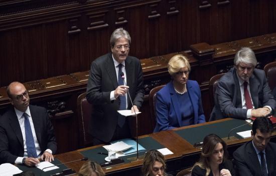 Il Presidente Gentiloni alla Camera per la fiducia