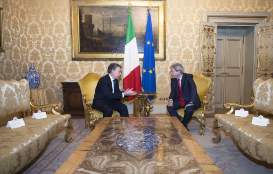 Gentiloni a colloquio con Juan Manuel Santos