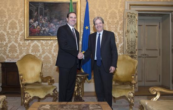 Gentiloni incontra CEO di CISCO Chuck Robbins