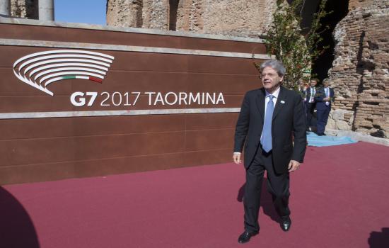Sopralluogo del Presidente Gentiloni ai lavori per il G7