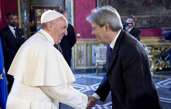 Il Presidente Gentiloni al Quirinale con il Papa