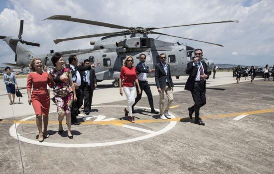 Gli impegni per la prima giornata del G7 delle consorti e dei consorti dei Leader