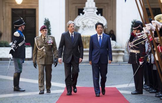 Gentiloni riceve Shinzo Abe