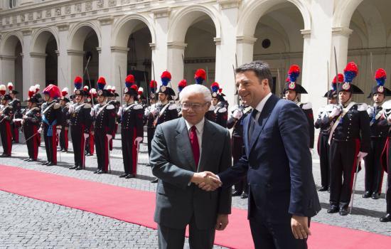 Renzi riceve Tony Tan Keng Yam