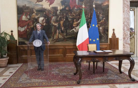 Gentiloni firma il Dpcm di ripartizione del Fondo Investimenti