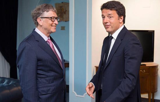 Renzi incontra Bill Gates