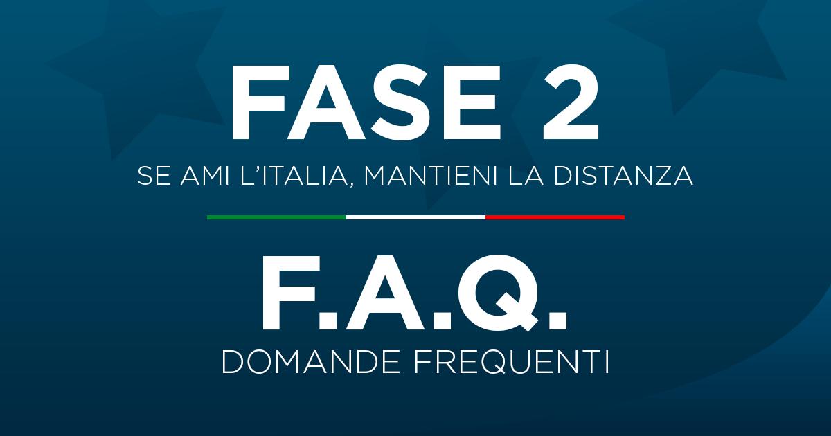 """""""Fase 2"""" - Domande frequenti sulle misure adottate dal Governo"""