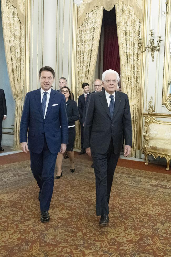 Il Presidente Conte con il Presidente Mattarella al Quirinale