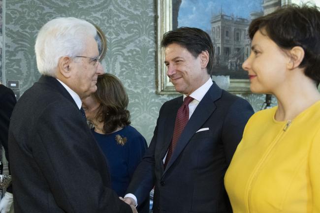 Il Presidente Conte con il Presidente Mattarella al Consiglio di Stato