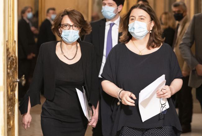 I Ministri Bonetti (Pari Opportunità e Famiglia) e Catalfo (Lavoro e Politiche Sociali)