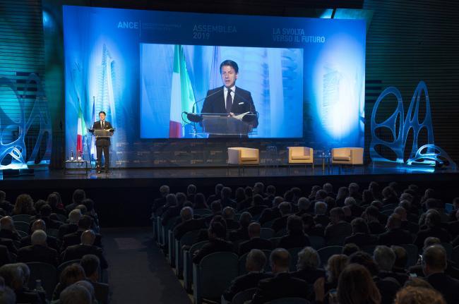 Il Presidente Conte interviene all'Assemblea Ance 2019