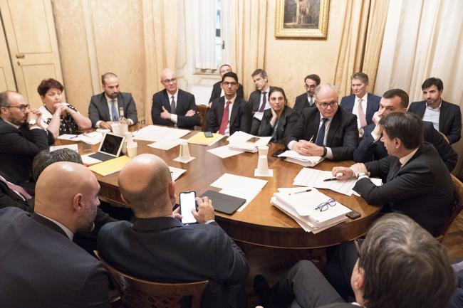 Vertice sulla manovra a Palazzo Chigi