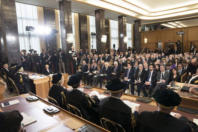 Il Presidente Conte all'inaugurazione dell'Anno Giudiziario della Corte dei Conti