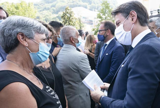 Cerimonia in ricordo delle vittime del crollo del Ponte Morandi