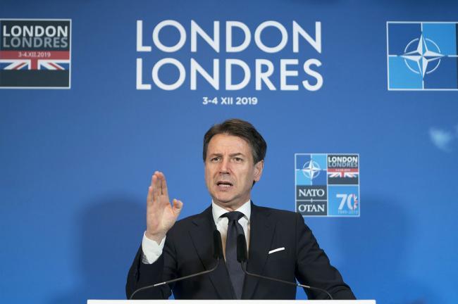 Il Presidente Conte in conferenza stampa al termine del summit NATO
