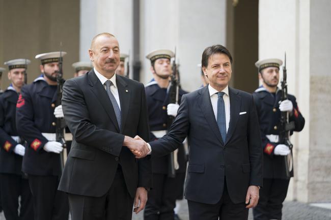 Conte riceve il Presidente della Repubblica dell'Azerbaigian Ilham Aliyev